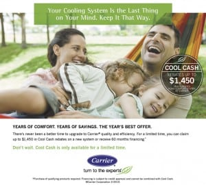 Carrier Cool Cash Rebates Up To $1,450