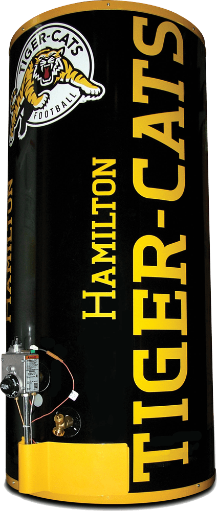 Limited Edition Hamilton Tiger Cats Water Heater A Plus Air